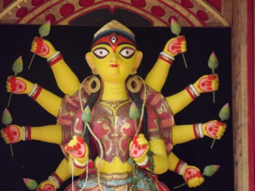 Shantiniketan-Sonajhuri Durga Puja