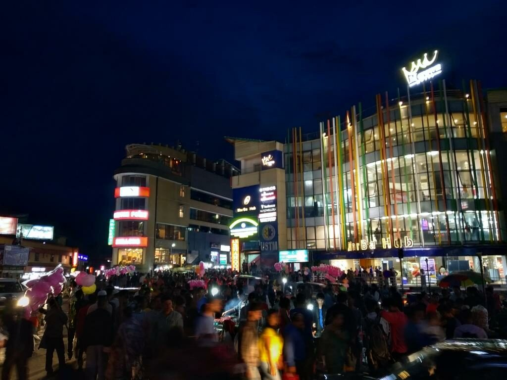Night View of Police Bazar in Shillong