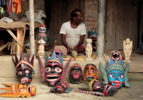 Wooden Mask-Kushmandi,Dinajpur